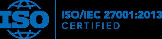 ISO/IEC 27001:2013 Certified